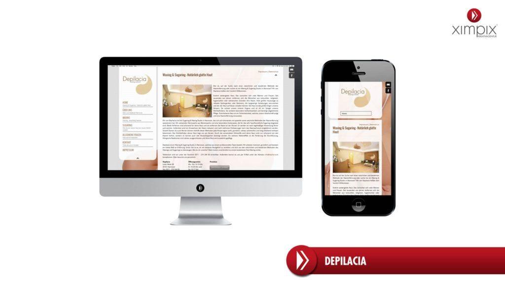 Webdesign Hannover Referenz Depilacia