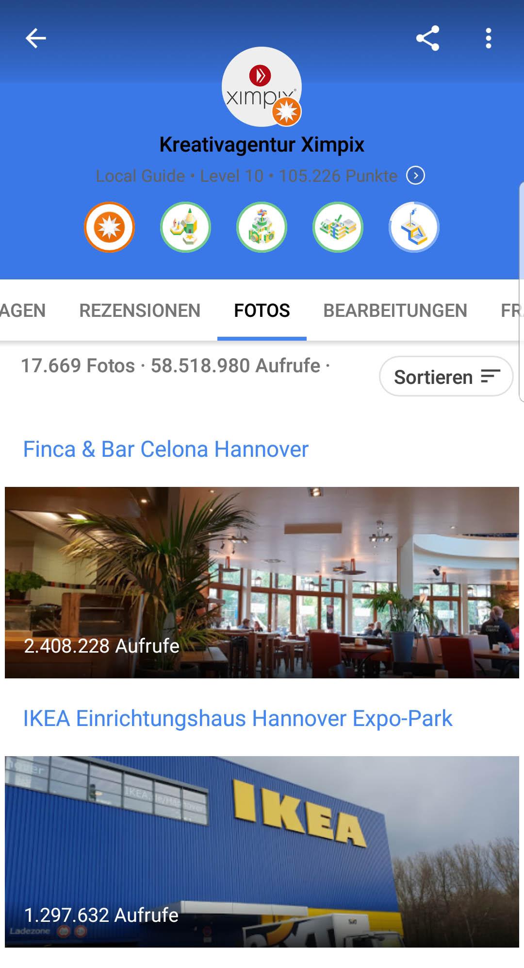 Google Local Level 10 Auszug